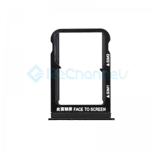 For Xiaomi 8 SIM Card Tray Replacement - Black - Grade S+