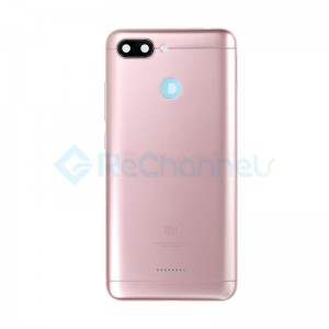 For Xiaomi Redmi 6 Rear Housing Replacement - Pink - Grade S+
