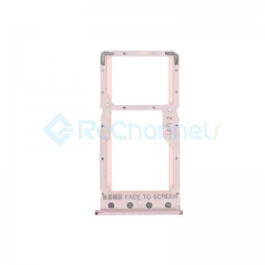 For Xiaomi Redmi 6 SIM Card Tray Replacement - Pink - Grade S+
