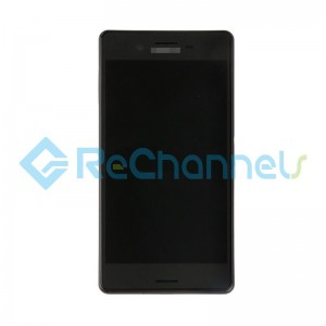 For Sony Xperia X LCD Screen and Digitizer Assembly with Front Housing Replacement - Black - Grade S