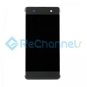 For Sony Xperia XA LCD Screen and Digitizer Assembly with Frame Replacement - Black - Grade S