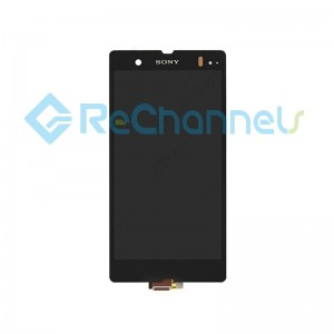 For Sony Xperia Z LCD Screen and Digitizer Assembly Replacement - Black - Grade S+