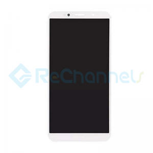 For Huawei Y5 Lite 2018 LCD Screen and Digitizer Assembly with Front Housing Replacement(with Honor logo) - White- Grade S