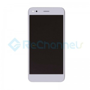For Huawei Y6 Pro/Enjoy 5 LCD Screen and Digitizer Assembly with Front Housing Replacement - White - Grade S