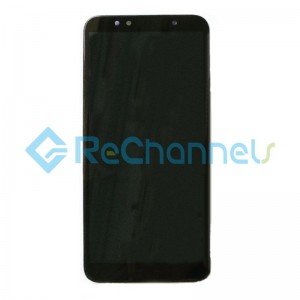 For Huawei Y6 (2018) LCD Screen and Digitizer Assembly with Front Housing Replacement - Black - Grade S