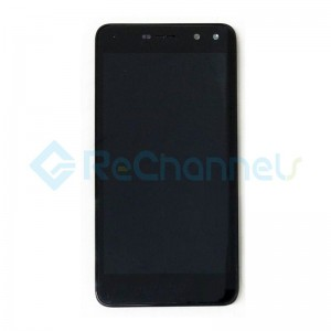 For Huawei Y6 2017 LCD Screen and Digitizer Assembly with Front Housing Replacement - Black - Grade S+