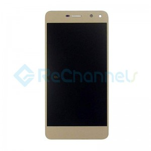 For Huawei Y6 2017 LCD Screen and Digitizer Assembly with Front Housing Replacement - Gold - Grade S+