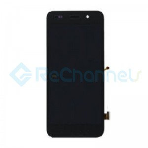 For Huawei Y6 LCD Screen and Digitizer Assembly with Front Housing Replacement - Black - Grade S