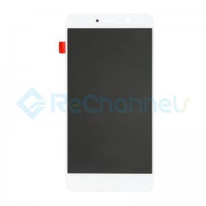 For Huawei Y7 (Enjoy 7 Plus) LCD Screen and Digitizer Assembly Replacement - White - With Logo - Grade S+