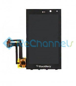 For Blackberry Z10 LCD Screen and Digitizer Assembly with front housing Replacement - Black - Grade S