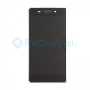 For Sony Xperia Z2 LCD Screen and Digitizer Assembly with Front Housing Replacement - White - Grade S+