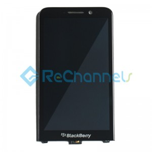 For Blackberry Z30 LCD Screen and Digitizer Assembly Replacement - Black - Grade S