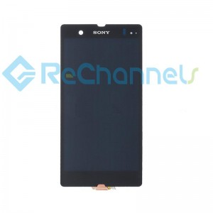 For Sony Xperia Z LCD Screen and Digitizer Assembly Replacement - Black - Grade S